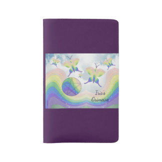 Rainbow  Butterfly Pentacle Travel BOS Grimoire Large Moleskine Notebook