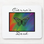 Rainbow Butterfly Personalised Mousepad