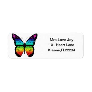 Rainbow Butterfly Rturn Address Lables Return Address Label
