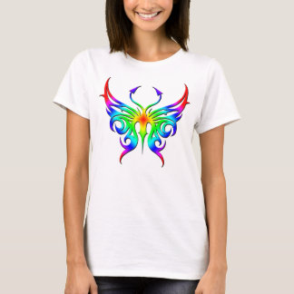 Rainbow butterfly tee. T-Shirt