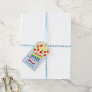 Rainbow Cake Birthday | Gift Tag