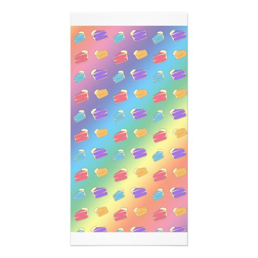 Rainbow cake pattern picture card