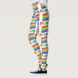 Rainbow Cake Slice LGBT Gay Pride Parade Rainbows Leggings
