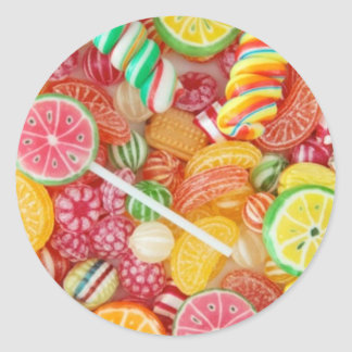 Rainbow candy classic round sticker