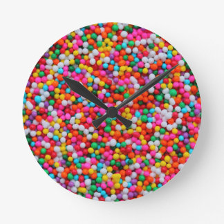 Rainbow Candy Color Overload Clock