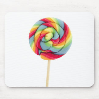 rainbow candy sucker mouse pad