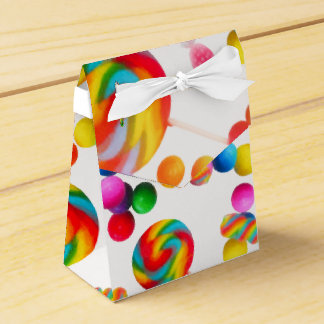 Rainbow Candy Sweet Birthday Party Custom Favor Party Favour Boxes