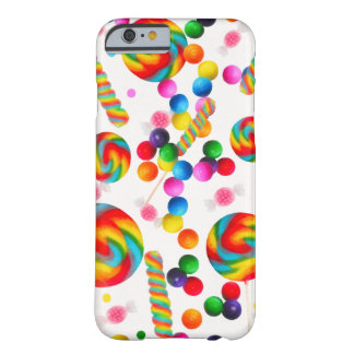 Rainbow Candy Sweet Custom Candyland Lollipops Barely There iPhone 6 Case