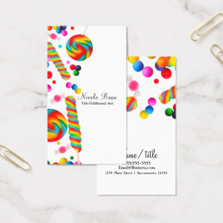Rainbow Candy Sweet Shop Boutique Custom Business Card