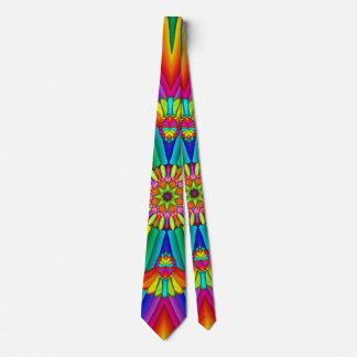 Rainbow Carnival Colorful Creative Tie