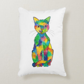 Rainbow Cat Accent Pillow