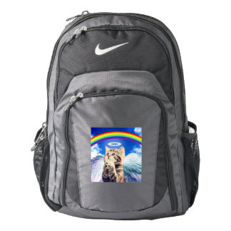 rainbow cat - cat praying - cat - cute cats backpack
