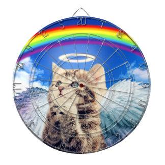 rainbow cat - cat praying - cat - cute cats dartboard