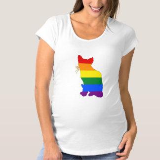 Rainbow Cat Maternity T-Shirt