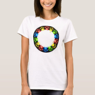 Rainbow Cat paws T-Shirt