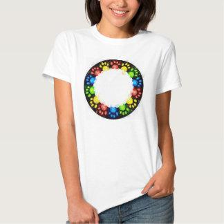 Rainbow Cat paws T Shirts