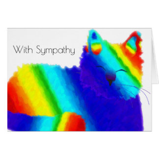 Rainbow Cat Pet Sympathy Card