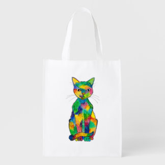 Rainbow Cat Reusable Bag
