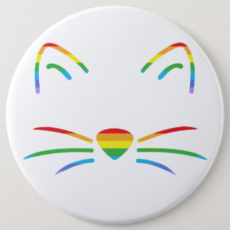 Rainbow Cat Whiskers Button