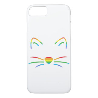 Rainbow Cat Whiskers iPhone Case