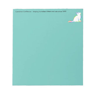 Rainbow cat, white fill, inside text notepad
