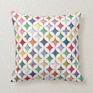 Rainbow Cathedral  Window Pattern Cushion