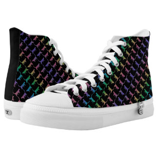 Rainbow Cats On Black Or Your Color Printed Shoes