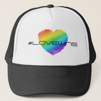 Rainbow Celebrate Love Wins Equality Love Trucker Hat