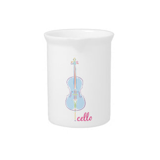 Rainbow Cello Pitcher