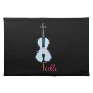Rainbow Cello Placemat