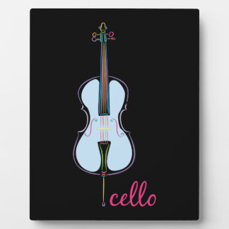 Rainbow Cello Plaque