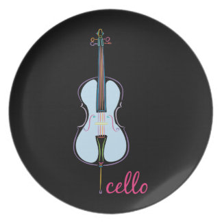 Rainbow Cello Plate