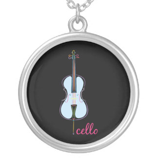 Rainbow Cello Silver Plated Necklace