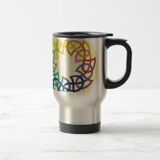 Rainbow Celtic Knot Stainless Steel Travel Mug