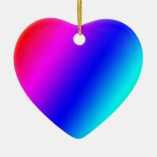 Rainbow Ceramic Heart Decoration