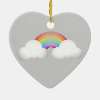 Rainbow Ceramic Ornament