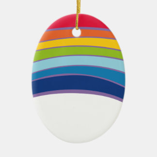 rainbow ceramic oval decoration