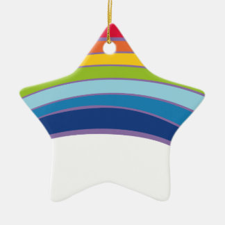 rainbow ceramic star decoration