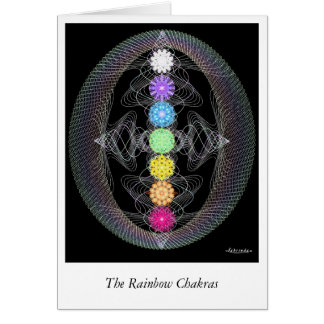 Rainbow Chakras Card