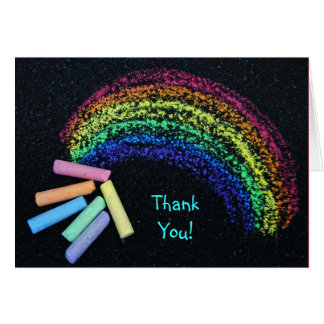Rainbow Chalk Card