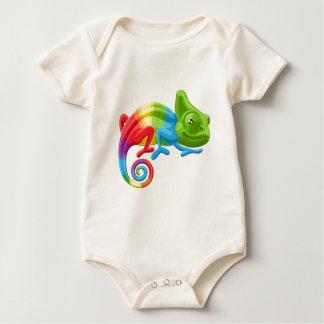 Rainbow Chameleon Baby Bodysuit