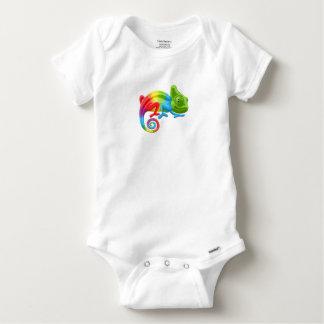 Rainbow Chameleon Baby Onesie