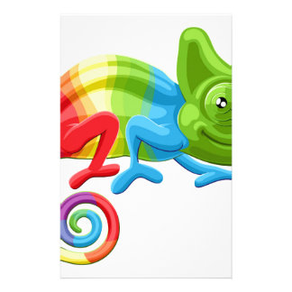 Rainbow Chameleon Personalized Stationery