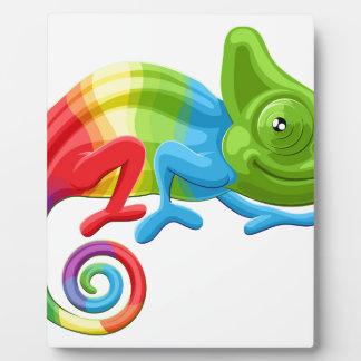 Rainbow Chameleon Plaques