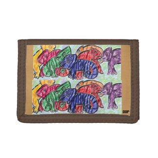 Rainbow Chameleons Tri-fold Wallets