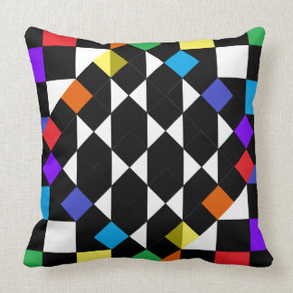 Rainbow Checkerboard Fashion Beach Picnic Pillows