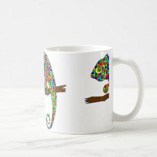 Rainbow Checkered Chameleon Mug