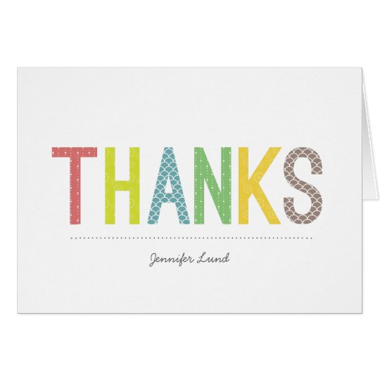 Rainbow Cheer Personalised Thank You Cards
