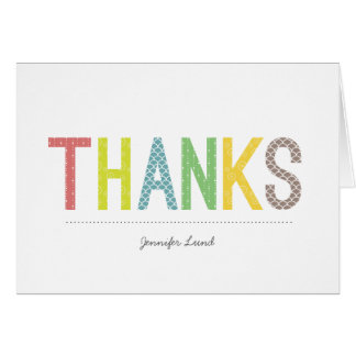 Rainbow Cheer Personalized Thank You Cards