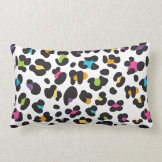 Rainbow Cheetah Print Throw Pillow
